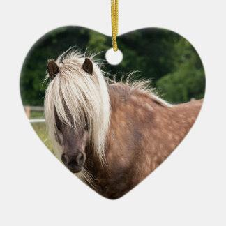 pony ceramic heart decoration