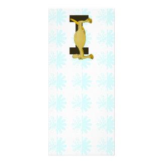 pony monogram I zazzle no shadow.png 10 Cm X 23 Cm Rack Card