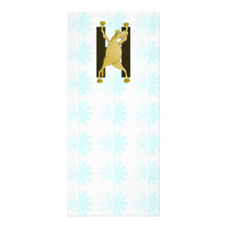 Pony Monogram Letter H Personalized Rack Card Design
