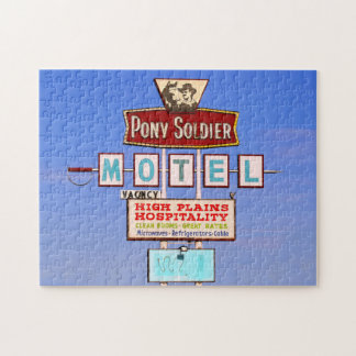 Pony Soldier Motel Sign, Route 66, Tucumcari, N.M. Jigsaw Puzzle