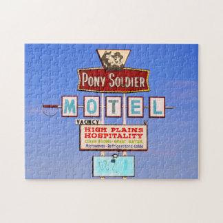 Pony Soldier Motel Sign, Route 66, Tucumcari, N.M. Puzzle