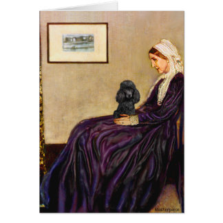 Poodle (black 1) - Whistler's Mother Card