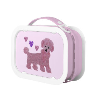 Poodle Hearts Lunch Box