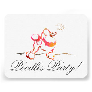 Poodle Invitations