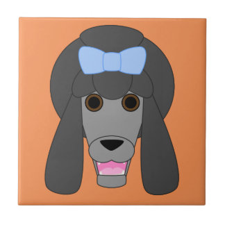 Poodle Love Small Square Tile