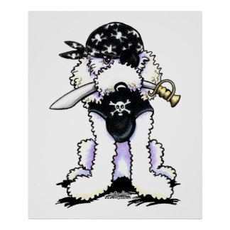 Poodle Pirate Poster