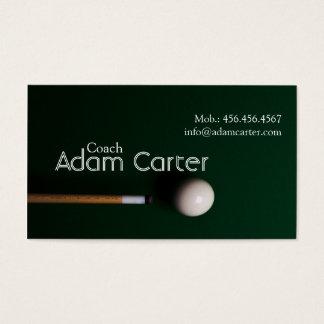Pool Billiards Coach Trainer Sport Team Business Card
