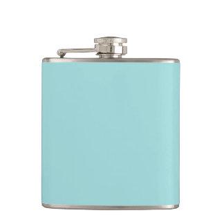 Pool Blue Personalised Aqua Teal Colour Background Hip Flask