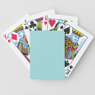 Pool Blue Personalized Aqua Teal Color Background Bicycle Playing Cards