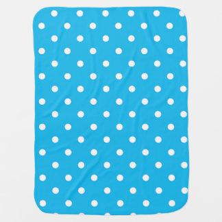 Pool Party Blue Polka Dot Baby Blanket