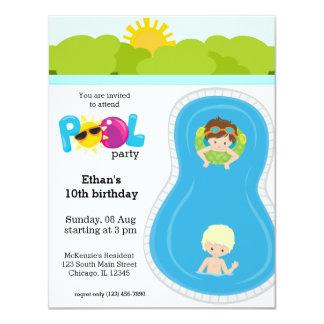 Pool Party boy Card