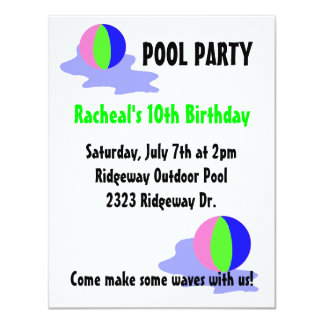 Pool Party Bright Beach Balls Card