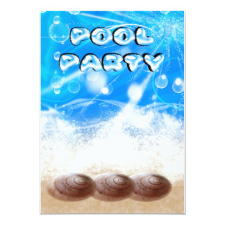pool party invitation card - modern pool party car