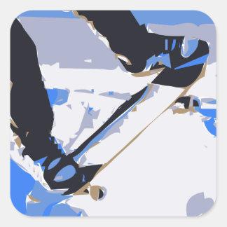 Pool Skating Skateboard Square Sticker