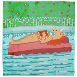 Pool Time Unicorn Napkin