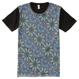 Poolside Kaleidoscope - Beautiful Blue Mosaic All-Over Print T-Shirt