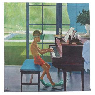 Poolside Piano Practice Napkin