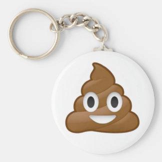 Poop emoji key ring