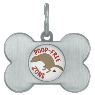 Poop-Free Zone Pet Name Tag