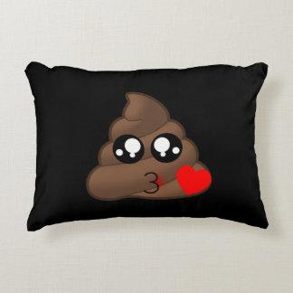 Poop Heart Love Emoji Decorative Cushion
