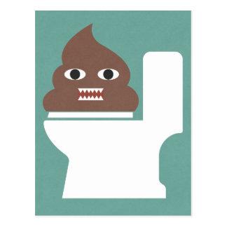 Poop Monster Postcard