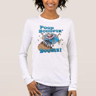 Poop Scoopin' Boogie! Ladies Long Sleeve (Fitted) Long Sleeve T-Shirt