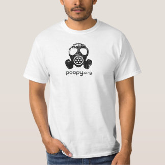 poopy gas mask t-shirt