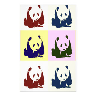 Pop Art Baby Pandas Stationery