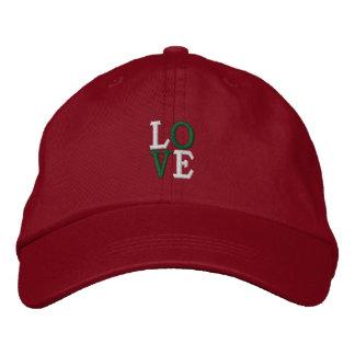 Pop Art Christmas LOVE Embroidered Baseball Caps