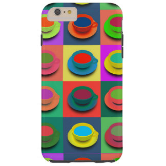 Pop-Art Coffee Mugs Tough iPhone 6 Plus Case
