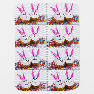 Pop Art Easter Bunny Cupcakes Buggy Blankets