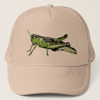 Pop Art Green Grasshopper Trucker Hat