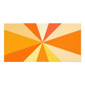 Pop Art Modern 60s Funky Geometric Rays in Orange Card