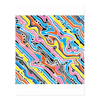 Pop Art No 1 Colorful Abstract Postcard