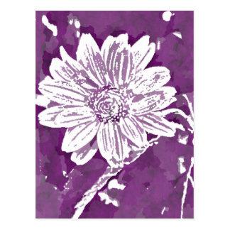 Pop Art Purple flower| Change of Address Postcard
