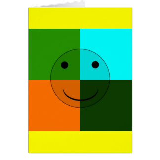 Pop art smiley card