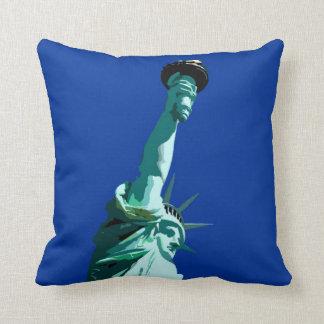 Pop Art Statue of Liberty American MoJo Pillow