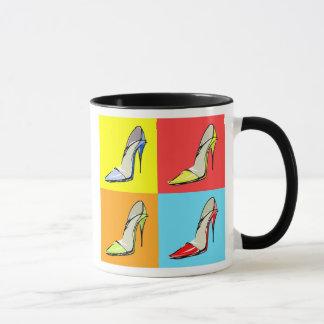 Pop Art Stilettos Coffee Mug, Fashion Theme
