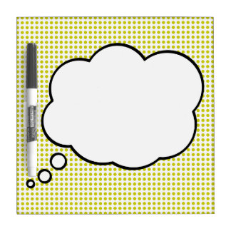 Pop Art Thought Bubble Dry Erase Message Board Dry Erase White Board