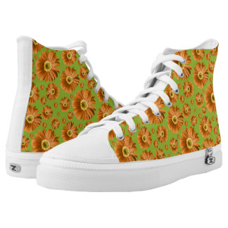 Pop Daisy Orange Printed Shoes