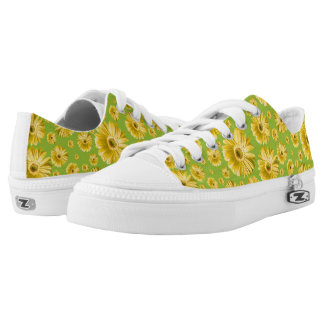 Pop Daisy Yellow Printed Shoes