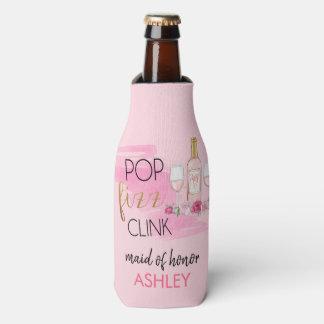 POP. FIZZ. CLINK. Bachelorette Party Bottle Cooler
