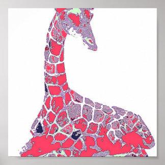 Pop Giraffe Posters