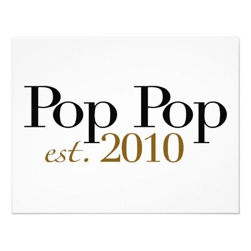 Pop Pop Est 2010 Personalized Announcement