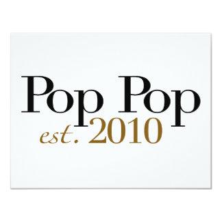 Pop Pop Est 2010 11 Cm X 14 Cm Invitation Card