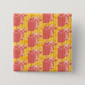 Pop-Style Vegan Endorsement 15 Cm Square Badge