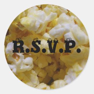 Popcorn RSVP Stickers