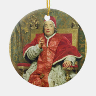Pope Clement XIII (1693-1769) (oil on canvas) Christmas Ornament