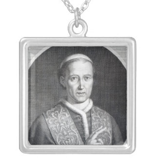 Pope Leo XII, engraved by Raffaele Persichini Silver Plated Necklace