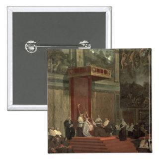 Pope Pius VII (Luigi Barnaba Chiaramonti) (1742-18 15 Cm Square Badge